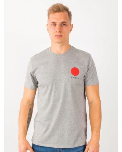 Szara t-shirt Edwin