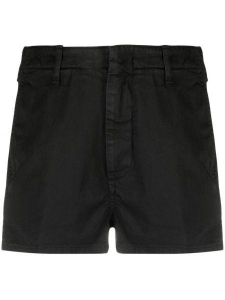 Хлопковые черные брюки узкого кроя Dondup