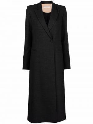 Черное пальто на пуговицах Ssheena