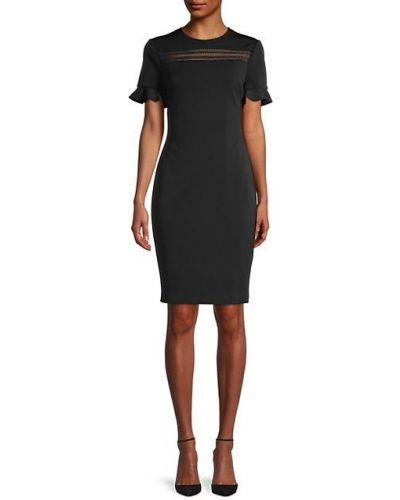 С рукавами кружевное черное платье Ted Baker London