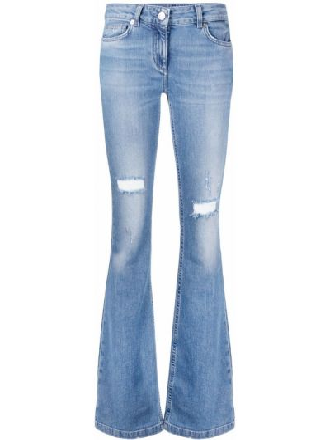 Синие джинсы классические стрейч для полных Blumarine