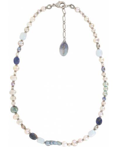 Ожерелье с жемчугом - серое Nature Bijoux