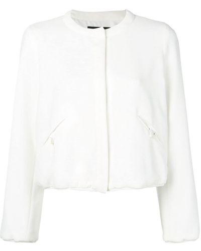 Приталенная белая куртка Emporio Armani