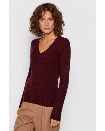 Sweter bordowy Polo Ralph Lauren