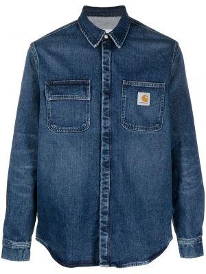 Джинсовая рубашка длинная - синяя Carhartt Wip