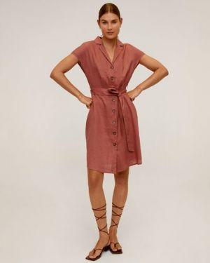 Платье мини на пуговицах сафари Mango