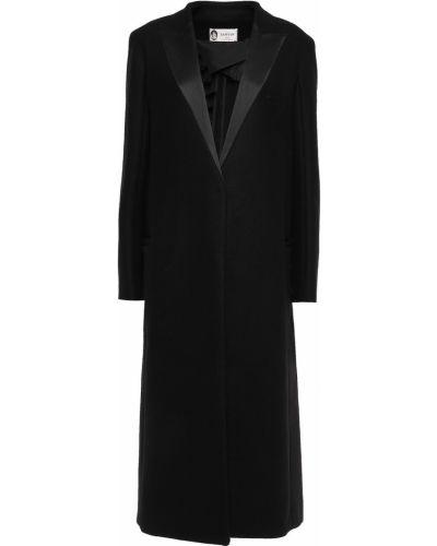 Черное кашемировое пальто с карманами Lanvin