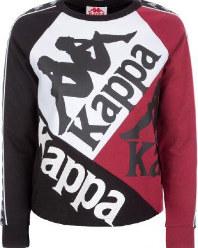Джемпер с капюшоном черный Kappa