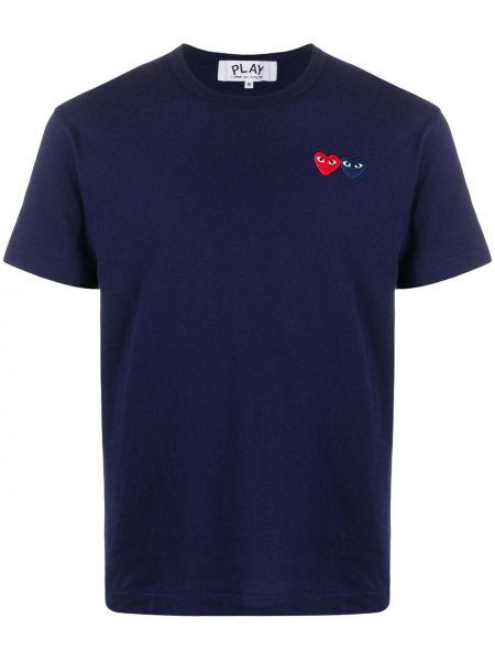 Koszula krótkie z krótkim rękawem z logo prosto Comme Des Garcons Play