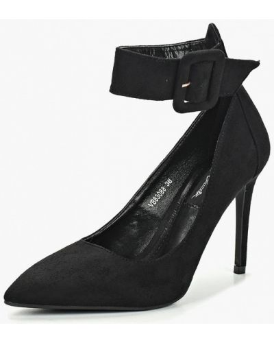 Туфли на каблуке с застежкой на лодыжке замшевые Vera Blum