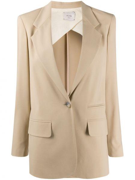 Пиджак в полоску шерстяной Alysi