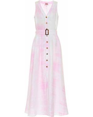 Платье макси розовое в полоску Solid & Striped
