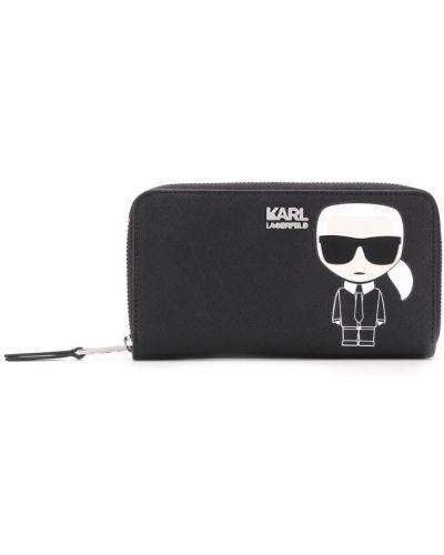 Кошелек на молнии черный Karl Lagerfeld