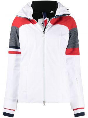 С рукавами белая длинная куртка с капюшоном Rossignol