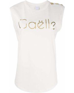 Футболка без рукавов - белая Gaelle Bonheur