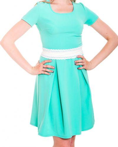 Платье с поясом мятный Lacywear