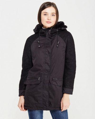 Утепленная куртка демисезонная черная Mavi