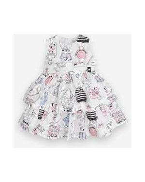 Летнее платье сетчатое из поплина Gulliver Wear