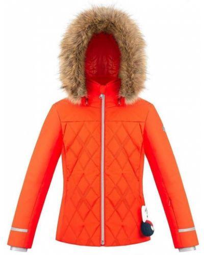 Оранжевая куртка горнолыжная Poivre Blanc