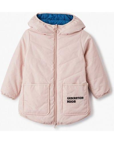 Теплая розовая куртка Boom