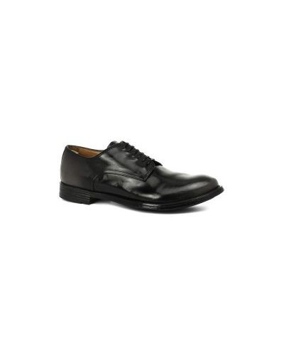Полуботинки на шнуровке кожаные Officine Creative
