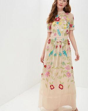 Вечернее платье индийский бежевое Frock And Frill