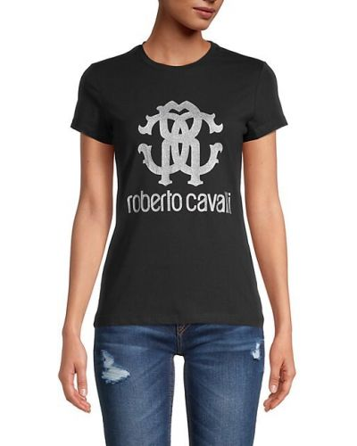 Хлопковая футболка с короткими рукавами стрейч Roberto Cavalli