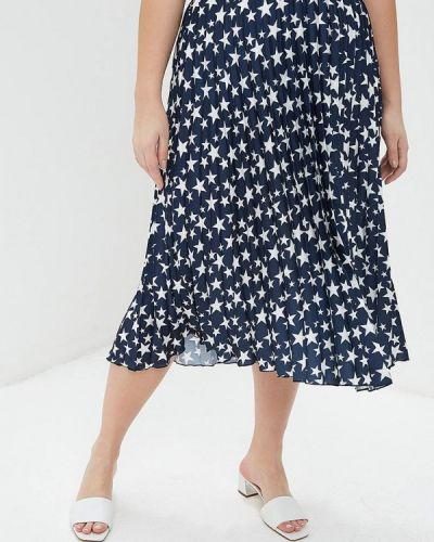 Плиссированная юбка синяя итальянский Kitana By Rinascimento