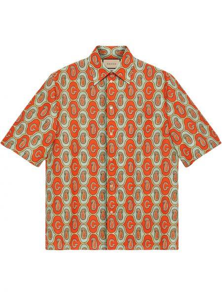 Koszula krótki rękaw - zielona Gucci