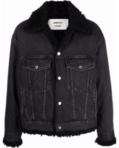 Джинсовая куртка с мехом - черная Ambush