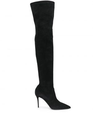 Кожаные ботфорты на каблуке на высоком каблуке Le Silla