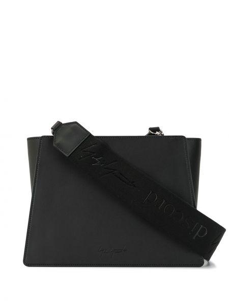 Кожаная черная кожаная сумка на молнии с карманами Discord Yohji Yamamoto