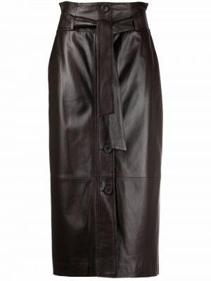 Кожаная юбка - коричневая Arma