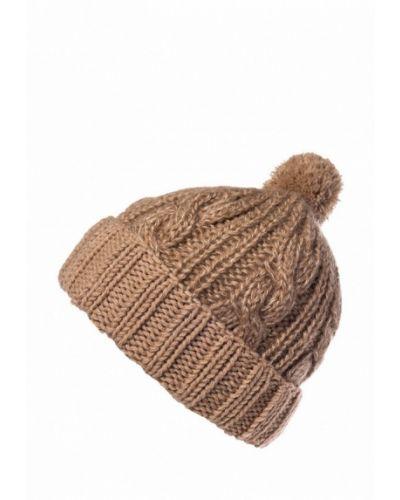 Бежевая шапка с помпоном Check Ya Head