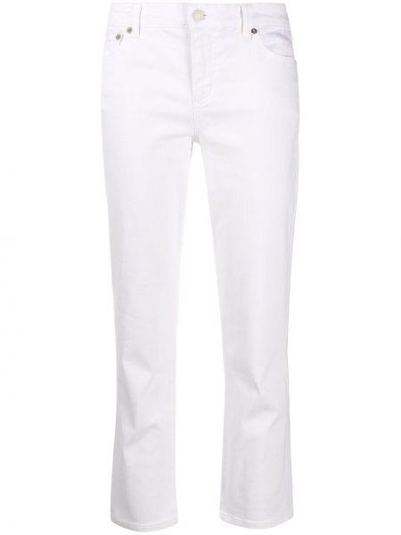 Хлопковые белые джинсы с карманами Polo Ralph Lauren