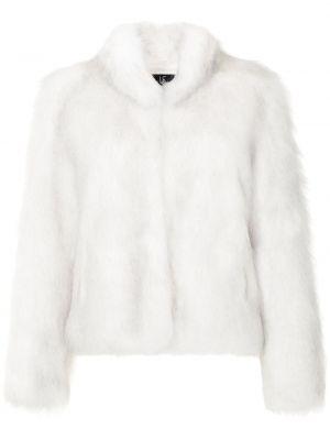 Белая шуба из искусственного меха Unreal Fur