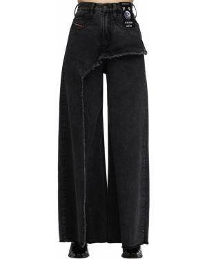 Широкие джинсы mom с заплатками Diesel