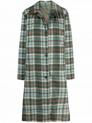 Зеленое пальто с воротником Pierre-louis Mascia