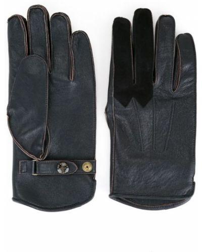 Кожаные перчатки текстильные черные Addict Clothes Japan