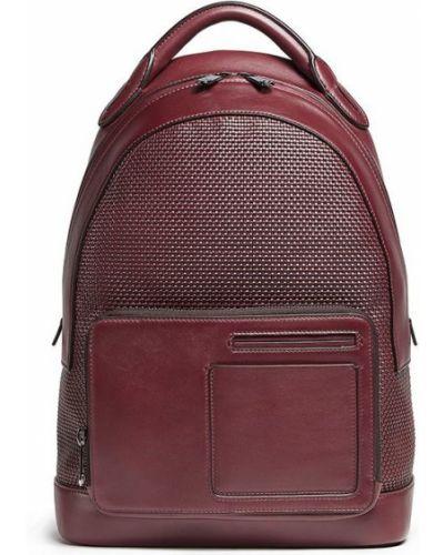 Кожаная красная сумка Ermenegildo Zegna