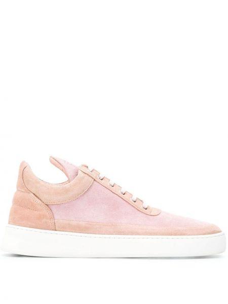 Skórzane sneakersy sznurowane różowy Filling Pieces