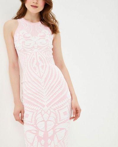 Платье розовое осеннее Brusnika