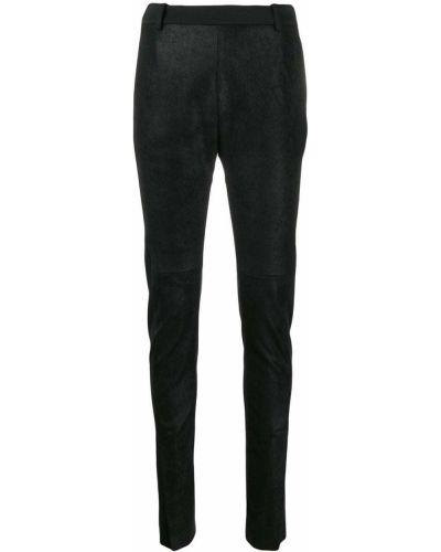 Кожаные брюки - черные Ilaria Nistri