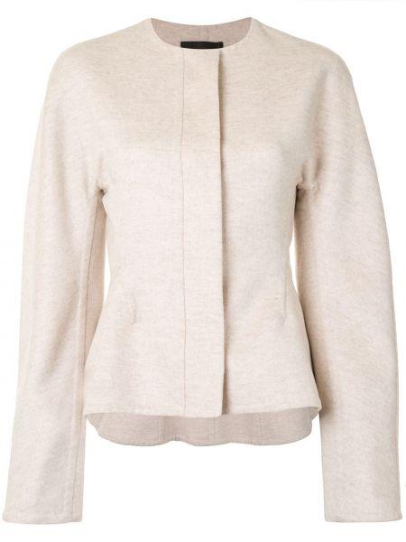 С рукавами белая куртка на молнии Proenza Schouler