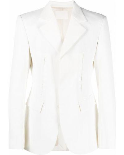 Белый удлиненный пиджак с карманами с отворотом Dion Lee