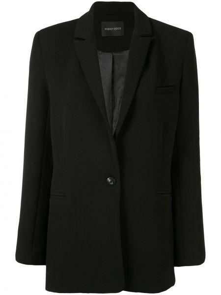 Прямой черный удлиненный пиджак на пуговицах Nobody Denim
