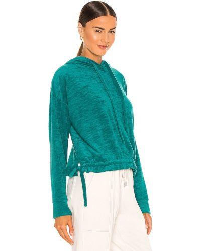 Niebieska bluza z kapturem bawełniana Blanknyc