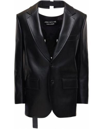 Кожаная куртка с подкладкой с манжетами Junya Watanabe
