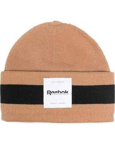 Шерстяная шапка бини - коричневая Reebok X Victoria Beckham