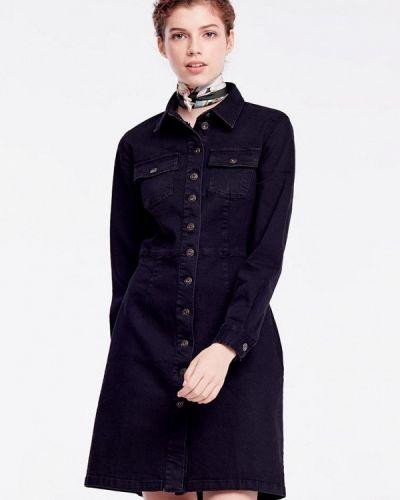Черное джинсовое платье Musthave